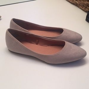 Suede Pointed Ballet Flats